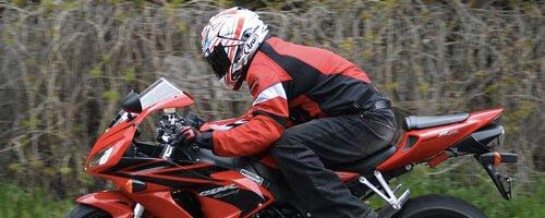 back position motorbike