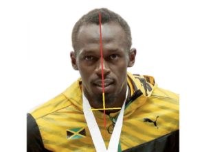 Usain Bolt Symmetry